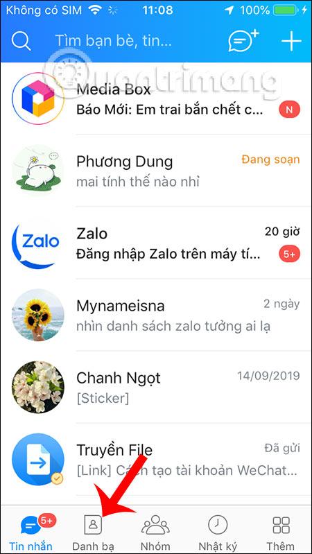 Danh bạ Zalo