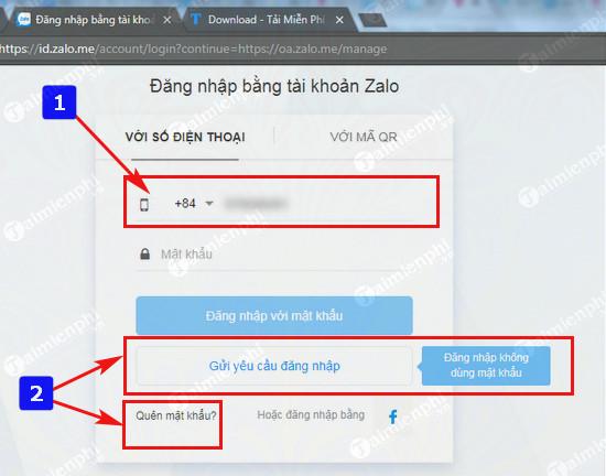 cach dang nhap tai khoan zalo oa admin official account 5