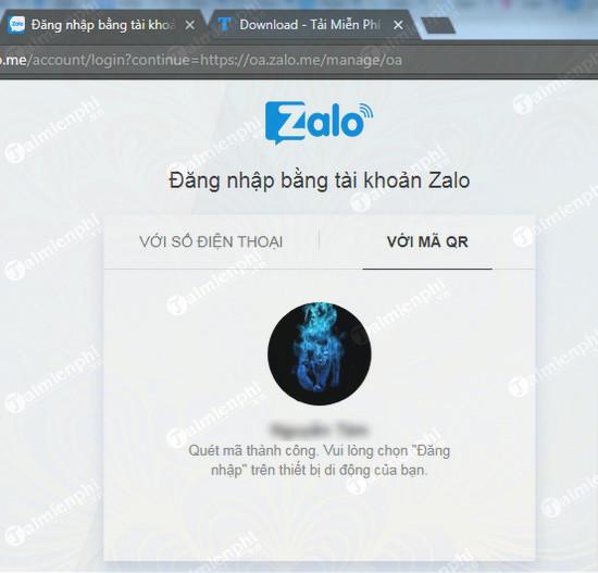 cach dang nhap tai khoan zalo oa admin official account 7
