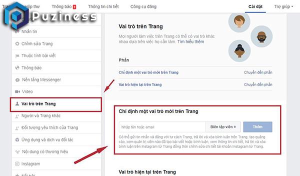 hướng dẫn thêm quản trị viên page trên facebook
