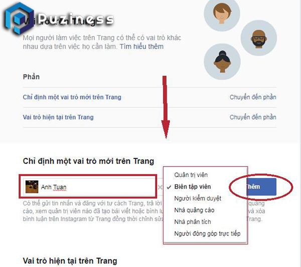 hướng dẫn thêm quản trị fanpage facebook