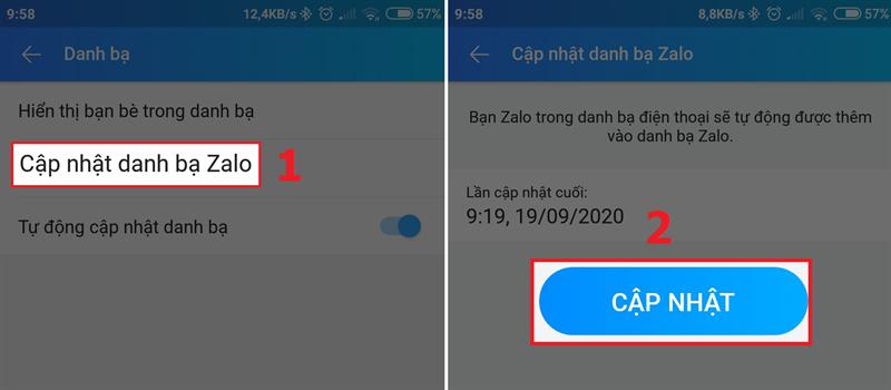 Cách đồng bộ, tự động cập nhật danh bạ Zalo từ điện thoại đơn giản