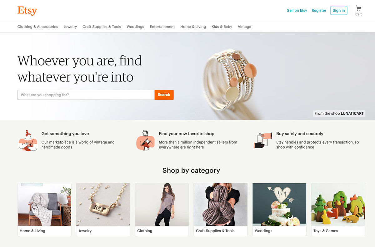 An Updated Etsy Homepage Experience | Etsy News Blog