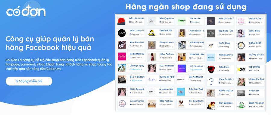 Ra mắt Codon.vn, Công cụ giúp quản lý bán hàng Facebook hiệu quả